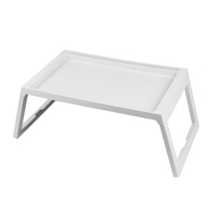 (White ) Notebook Tray Folding Computer Table