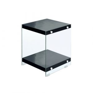 Whited Side Table Metro Lane Table Top Colour: Black
