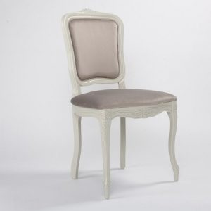 Whittier Upholstered Dining Chair Fleur De Lis Living Upholstery Colour: Beige, Frame Colour: Grey