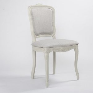 Whittier Upholstered Dining Chair Fleur De Lis Living Upholstery Colour: Grey, Frame Colour: Grey
