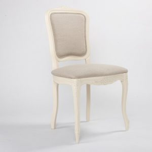 Whittier Upholstered Dining Chair Fleur De Lis Living Upholstery Colour: Ivory, Frame Colour: Ivory
