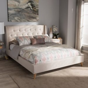 Wiltshire Upholstered Platform Bed Mikado Living Colour: Light Beige, Size: King (6')