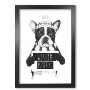 Winter is Boring - Picture Frame Graphic Art on Paper East Urban Home Frame Options: Black Grain, Size: 42 cm H x 29.7 cm W x 5 cm D