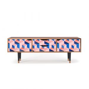 """Zayac TV Stand for TVs up to 70"""" Ebern Designs Pattern: Pinky Squares"""