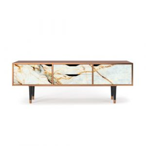 """Zayac TV Stand for TVs up to 70"""" Ebern Designs Pattern: Sandy Marble"""