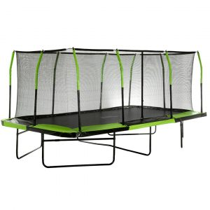 17' Backyard: Above Ground Trampoline with Safety Enclosure