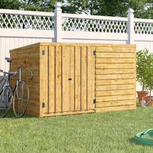 6 ft. W x 4 ft. D Solid Wood Bike Shed