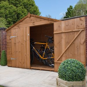 7 ft. W x 3 ft. D Solid Wood Bike Shed
