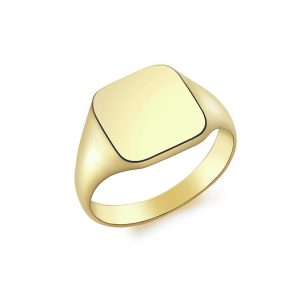9ct Gold Men's Personalised Square Signet Ring - N