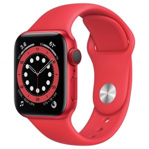 Apple Watch Series 6 Cellular 40mm Red Alu Case/Sport Band