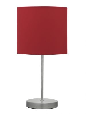 Argos Home Satin Stick Table Lamp - Red