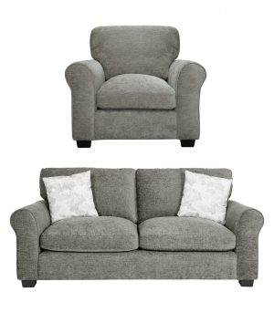 Argos Home Tammy Fabric Chair and 3 Seater Sofa - Mink