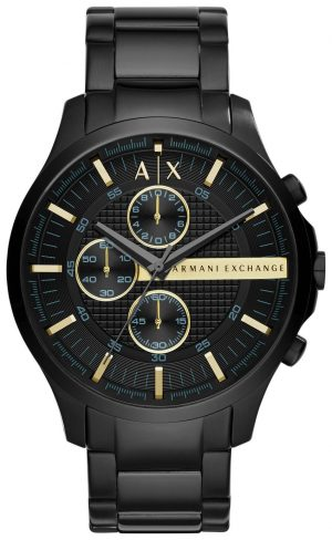 Armani Exchange Black Dial Stainless Steel Watch
