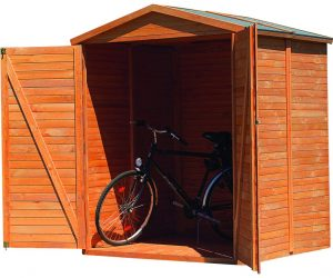 Bergamo 5.7 ft. W x 2.7 ft. D Tongue and Groove Apex Wooden Bike Shed