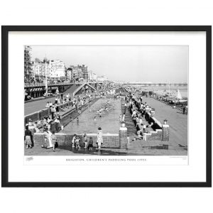 'Brighton, Children's Paddling Pool C1955' by Francis Frith - Picture Frame Photograph Print on Paper