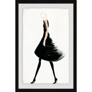 Brushed Black Dress - Picture Frame Graphic Art Print on Paper