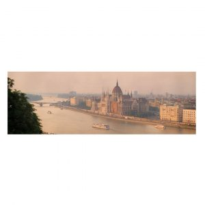 Budapest Skyline - Wrapped Canvas Graphic Art Print