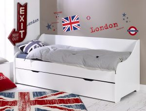 Calli Small Single Cabin Bed with Trundle