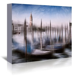 City Art Venice Gondolas and Grand Canal' by Melanie Viola Graphic Art Wrapped on Canvas