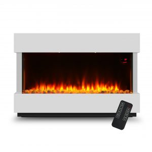 Devola 2kW Electric Fireplace Suite White 580x928mm - DVWFL2000WH