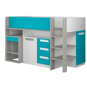 Gilliam Single (3') Mid Sleeper Bed with Drawers