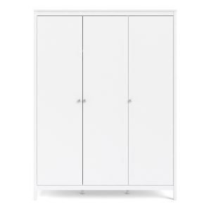 Granada Large Wardrobe with 3 Doors in White