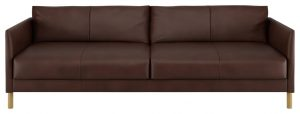 Habitat Hyde 3 Seater Leather Sofa Bed - Brown