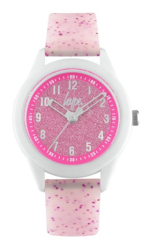 Hype White and Pink Silicone Strap Watch