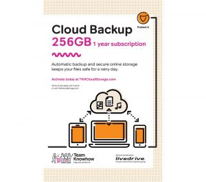 Knowhow Cloud Backup for Tablets & Mobiles - 256 GB, 1 year
