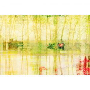 Lake Graphic Art Wrapped on Canvas