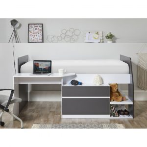 Marchand Single (3') Mid Sleeper Bed with Desk and Drawers
