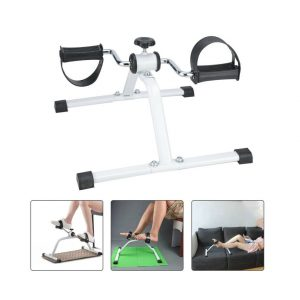 Mini exercise bike adjustable resistance armchair pedal leg workout