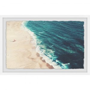 Nazare Beach by Ingrid Beddoes - Picture Frame Graphic Art Print on Paper