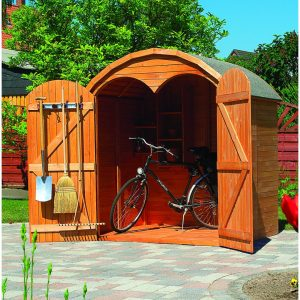 Perugia 6.4 ft. W x 4.9 ft. D Wooden Bike Shed