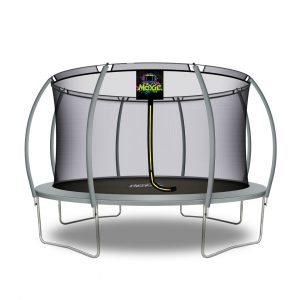 Pumpkin Shaped 14' Outdoor Backyard Above Ground Trampoline with Safety Enclosure