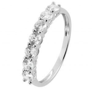 Revere 9ct White Gold Cubic Zirconia Eternity Ring - O