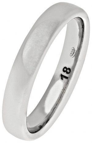 Revere Sterling Silver Heavyweight 4mm Wedding Ring - 4mm -S