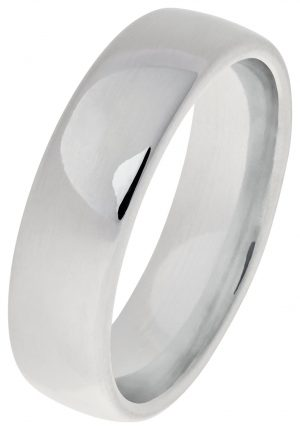 Revere Sterling Silver Heavyweight Wedding Ring - 6mm - S