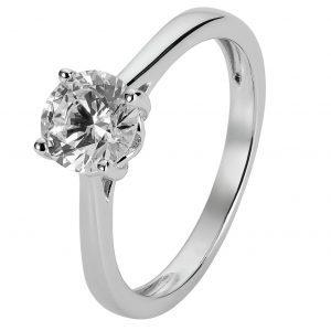 Revere Sterling Silver Round Cubic Zirconia Ring - N