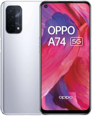 SIM Free OPPO A74 128GB 5G Mobile Phone - Silver