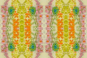 'Snapdragons Textile' Graphic Art Print on Wrapped Canvas