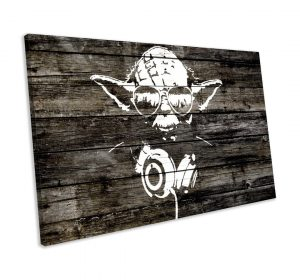 'Star Wars Yoda' by Bansky - Wrapped Canvas Graphic Art Print