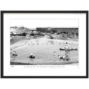 'Sutton on Sea, the Children's Paddling Pool C1950' by Francis Frith - Picture Frame Photograph Print on Paper