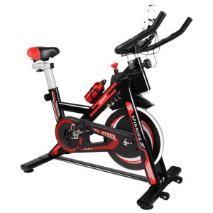 Ultra-Quiet Resistance Spin Bike With LCD Monitor | Stationary Exercise Bike