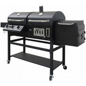 195cm Cherokee Gas/Charcoal Barbecue with 2 Cooking Chambers