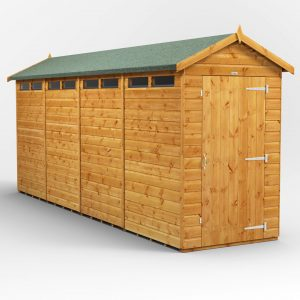 4 ft. W x 16 ft. D Solid Wood Garden Shed
