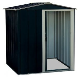 5 ft. W x 4 ft. D Apex Metal Garden Shed