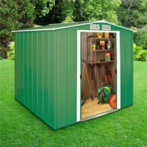 6 ft. 8 in. W x 6 ft. D Metal Garden Shed