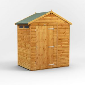 6 ft. W x 4 ft. D Solid Wood Garden Shed