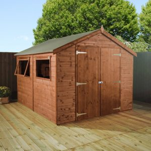 8 ft. W x 10 ft. D Solid Wood Garden Shed
